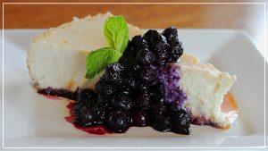 ricotta cheesecake blueberry month