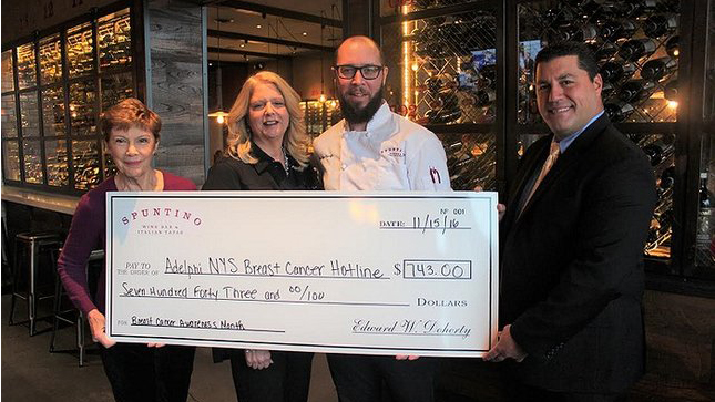 Spuntino Wine Bar & Italian Tapas Supports Fight Against Breast Cancer