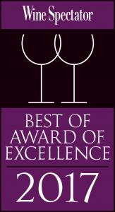 Wine Spectator Best Award of Excellence 2017