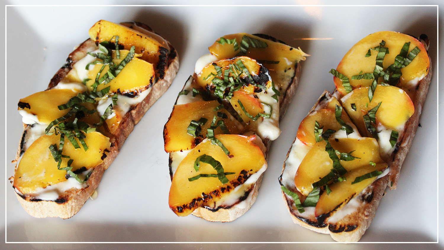 peach bruschetta