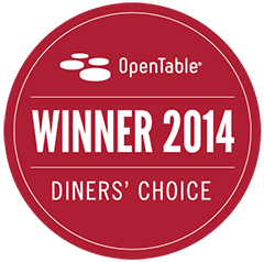 OpenTable Diners Choice award 2014