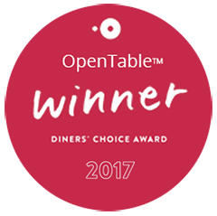 OpenTable Diners Choice award 2017