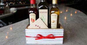 gift cards and olive oils