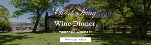 Charles Krug Wine Dinner August 12 Purchase Tickets